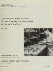 Cover of: Continuous mass rearing of the European corn borer in the laboratory