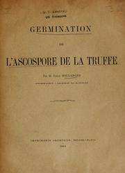 Cover of: Germination de l'ascospore de la truffe