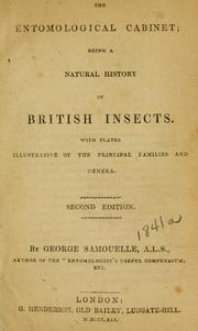 Cover of: entomological cabinet | George Samouelle
