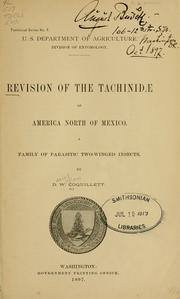 Cover of: Revision of the Tachinidae of America north of Mexico