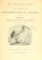 Cover of: Scopoli's Ornithological papers from his Deliciae florae et faunae insubricae (Ticini: 1786-1788)