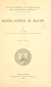 Cover of: Hindi cotton in Egypt