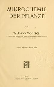 Cover of: Mikrochemie der Pflanze