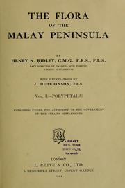 Cover of: The flora of the Malay Peninsula