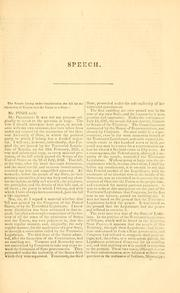Cover of: Speech of Hon. George E. Pugh, of Ohio, on the Kansas Lecompton constitution