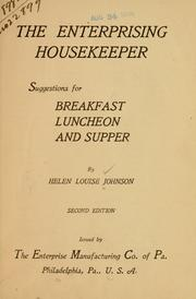 Cover of: The enterprising housekeeper