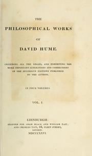 Cover of: The philosophical works of David Hume