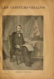 Cover of: Lincoln (1809-1865)