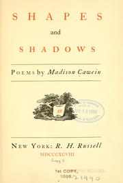 Cover of: Shapes and shadows: Poems