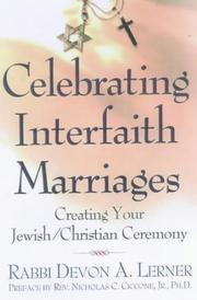 Cover of: Celebrating interfaith marriages | Devon A. Lerner