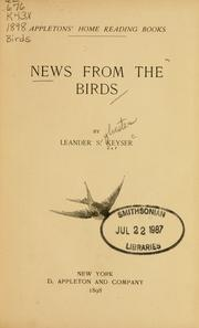 Cover of: News from the birds