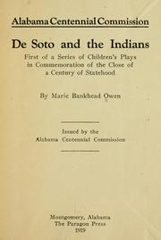 Cover of: De Soto and the Indians