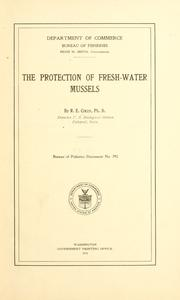 Cover of: The protection of fresh-water mussels