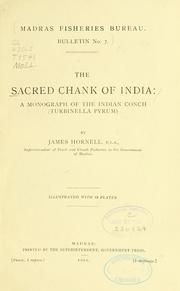 Cover of: The sacred chank of India