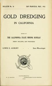 Cover of: Gold dredging in California