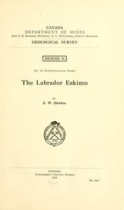 The Labrador Eskimo by Ernest William Hawkes