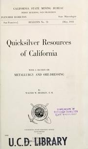 Cover of: Quicksilver resources of California
