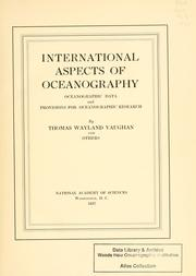 Cover of: International aspects of oceanography: oceanographic data and provisions for oceanographic research