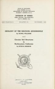 Cover of: Geology of the Macdoel quadrangle