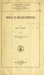Cover of: What is malnutrition?