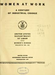 Cover of: Women at work | United States. Women