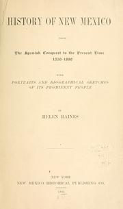 Cover of: History of New Mexico | Helen Haines