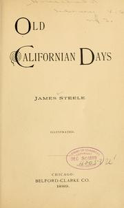 Cover of: Old Californian days