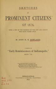 Cover of: Sketches of prominent citizens of 1876