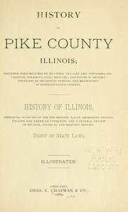 Cover of: History of Pike county, Illinois by