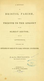 Cover of: A History of Bristol Parish
