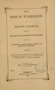 Cover of: The tomb of Washington at Mount Vernon