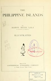 Cover of: The Philippine Islands