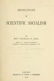 Cover of: Principles of scientific socialism