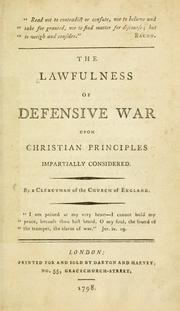 lawfulness of defensive war