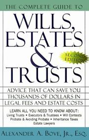 Cover of: The complete book of wills, estates & trusts