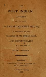 The West Indian by Richard Cumberland