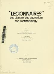 Cover of: Legionnaires | Center for Disease Control. Bureau of Laboratories.