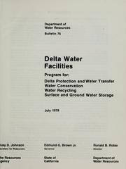Delta water facilities