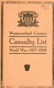 Cover of: Westmoreland County's casualty list