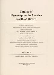 Cover of: Catalog of Hymenoptera in America north of Mexico | Karl V. Krombein