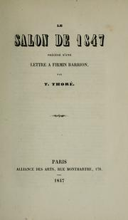 Cover of: Le Salon de 1847