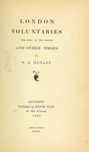 Cover of: London voluntaries