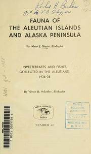 Cover of: Fauna of the Aleutian Islands and Alaska Peninsula | Olaus Johan Murie