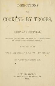 Cover of: Directions for cooking by troops, in camp and hospital