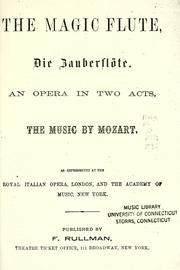 Cover of: Zauberflöte