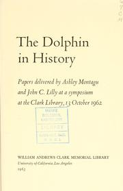 Cover of: The dolphin in history