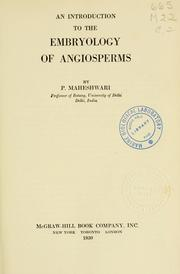 Cover of: An introduction to the embryology of angiosperms