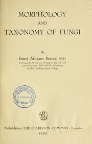 Cover of: Morphology and taxonomy of fungi