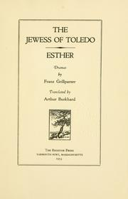Cover of: The Jewess of Toledo: historical tragedy in five acts.