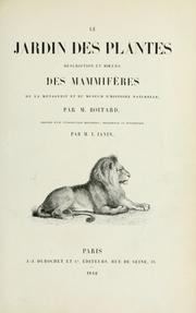 Cover of: Le Jardin des plantes by Pierre Boitard